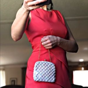 Handbags - Vintage Sequined Clutch Made in Hong Kong